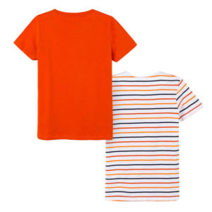 Μπλούζες Πορτοκαλί Ριγέ 6066