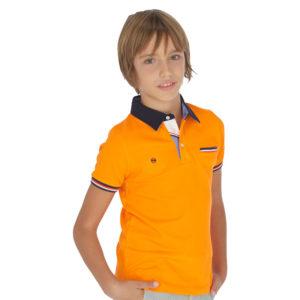 Μπλούζα Πόλο Πορτοκαλί 6139