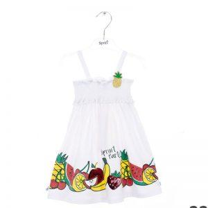 φόρεμα φρούτα tropical 2101